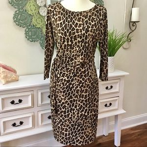 Peter Nygard Leopard Fitted Dress